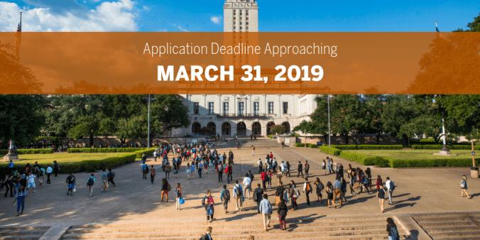 Application Deadline 2019