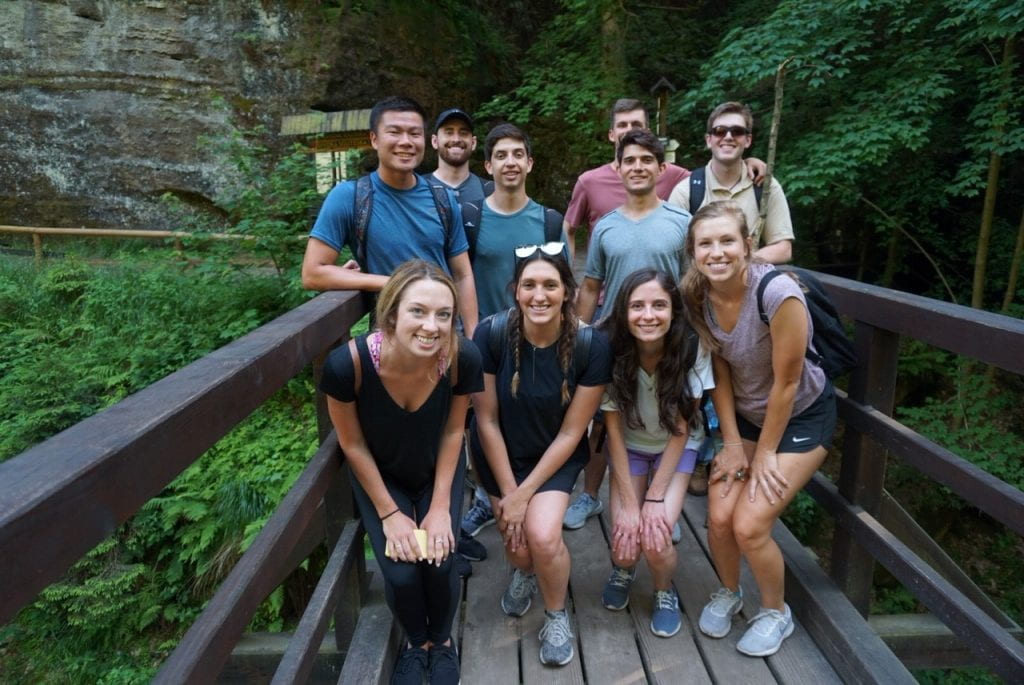 MPA students study abroad and explore in Prague