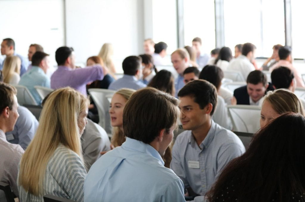 Day 1 Students Networking