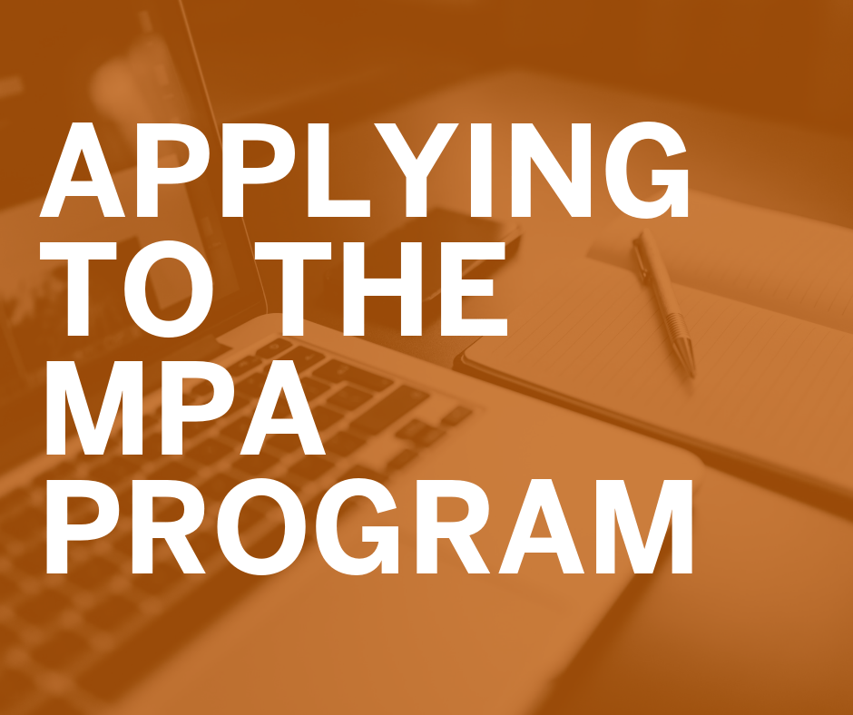 When to apply to the MPA program