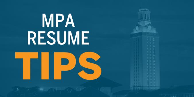 MPA Resume Tips
