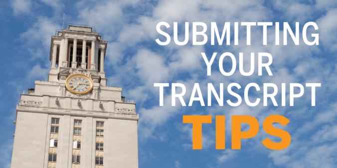 Transcript tips blog