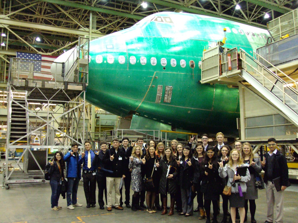 BHP students enjoyed their tour of Boeing.