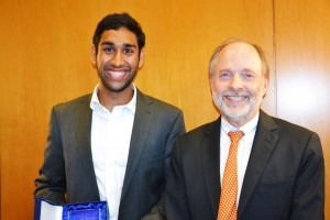 Neal Makkar and BHP Faculty Director Robert Prentice