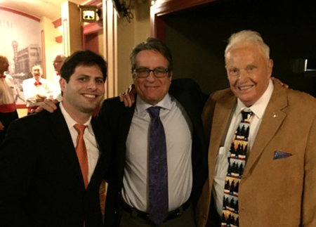 BHP alumnus Adam Blum with director Angelo Pizzo and UT Legend Frank Denius.
