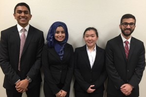 First Place Team - Muhammad Ghauri, Nazifa Mim, Jiaying Han and Vinesh Kovelamudi