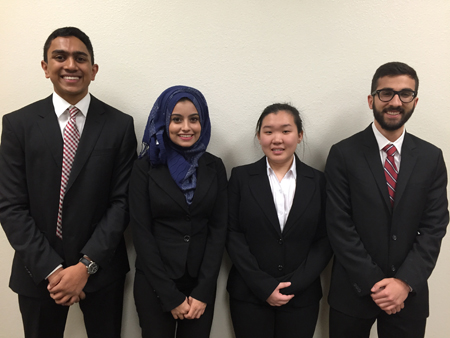 First Place Team - Muhammad Ghauri, Nazifa Mim, Jiaying Han and Vinesh Kovelamudi