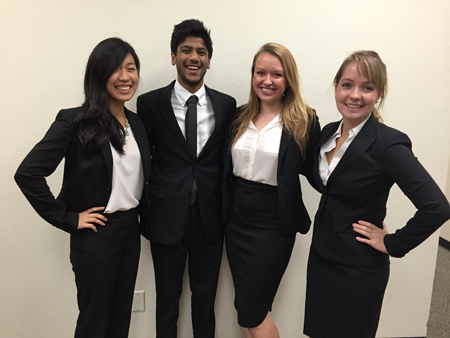 Second Place Team - Anna Wang, Vamshi Gujju, Morgan Moulckers and Jessica Breckenridge.