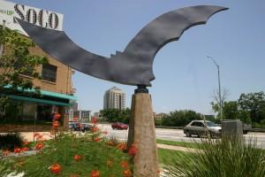 Bat statue in Austin