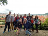 A group of Texas MPAs overlooking scenic Prague