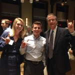 Joel and I with President Powers. Hook 'em!