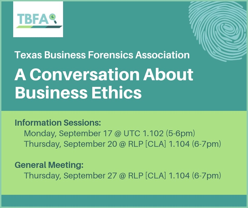Attend an info session to learn more about Texas Business Forensics Association.