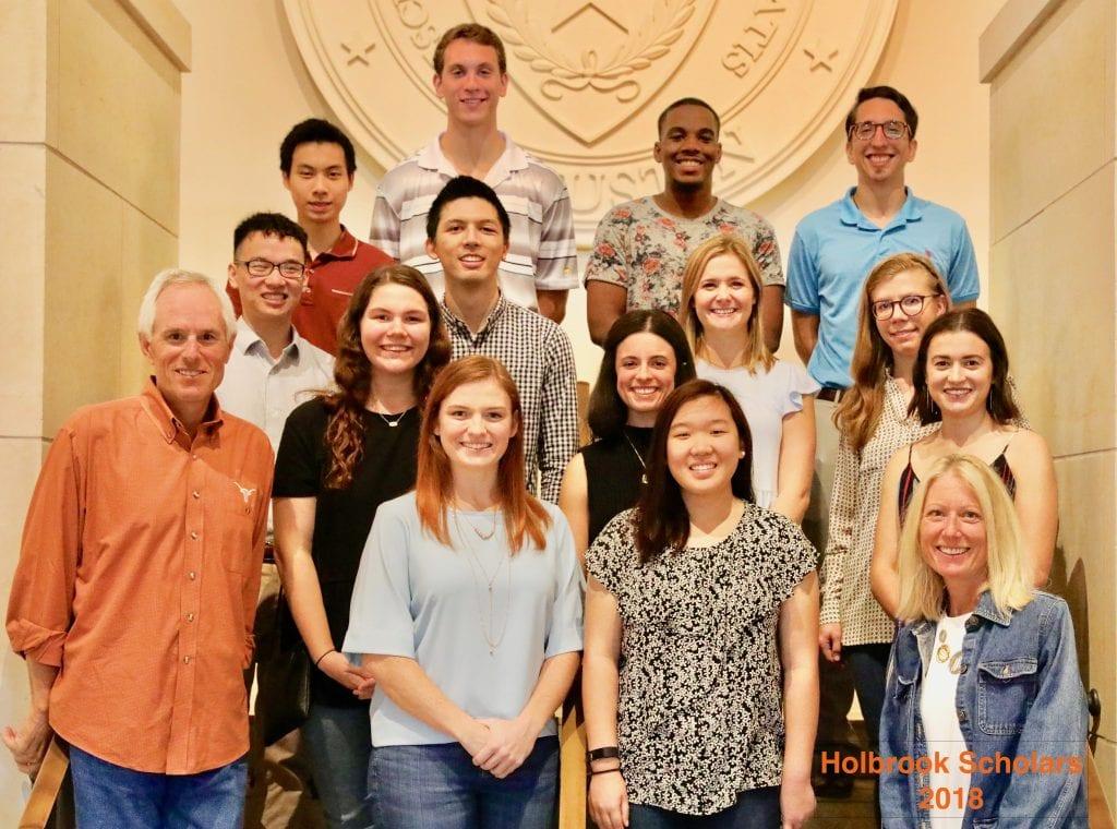 Congratulations to the 2018-2019 Holbrook Scholar Program recipients!