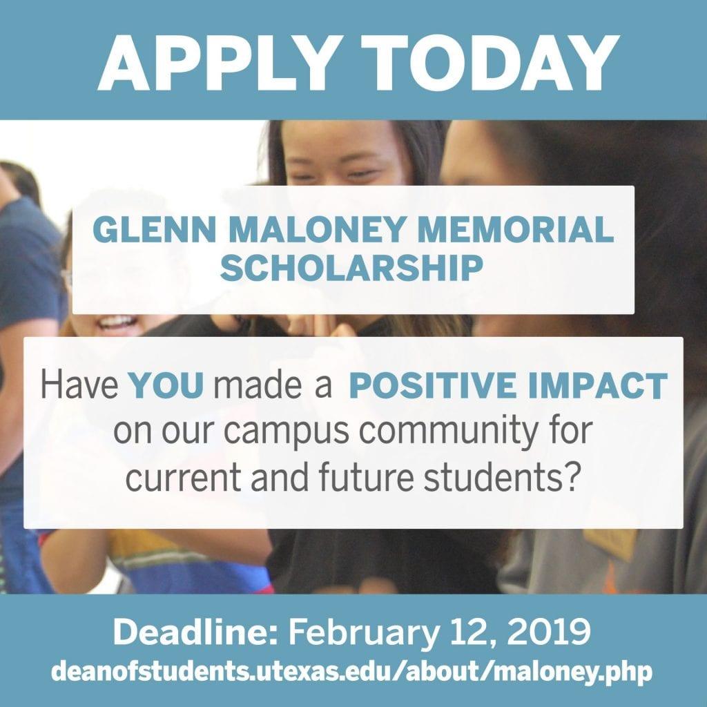 Glenn Maloney Scholarship
