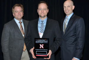 First place team, Rainseed, featuring MSTC students Jim Nelson, Mike Peterson, and John Willick. Photo courtesy of the UNL College of Business Facebook page.