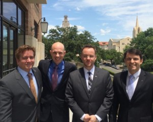 Texas MSTC team, RainSeed, after being selected for the Wells Fargo Clean Energy Challenge at the 2014 Global Venture Labs Investment Competition.