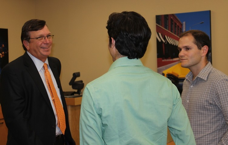 Charles Holley with MBA Students