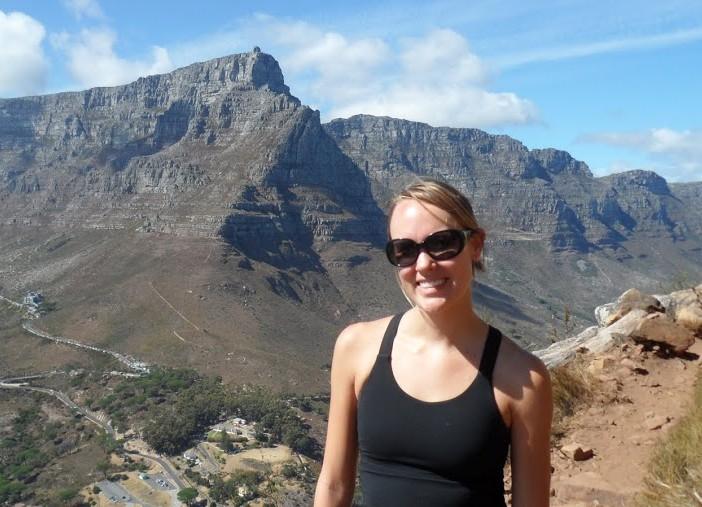 Texas MBA Alumna Kalin McKenna atop Lion's Head in South Africa