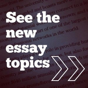 2013-14 Texas MBA Full-Time Application Essay Topics