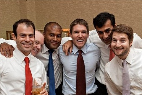 Ryan, third from left, pictured with several others from the Class of 2010 at a former classmates recent wedding.