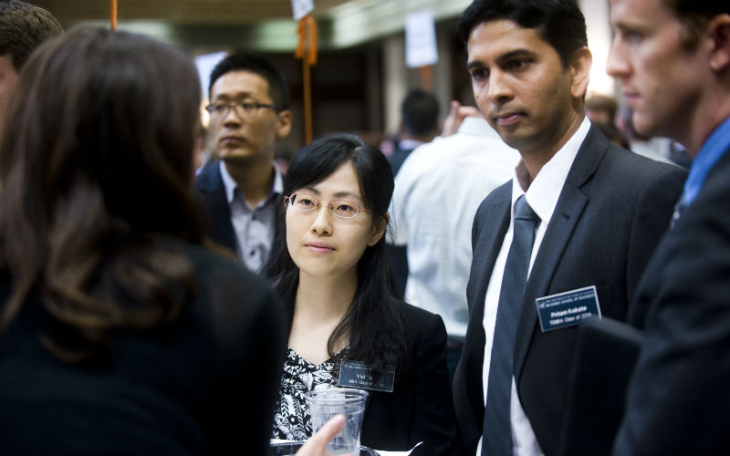 International Student at Texas MBA Career Connections Event