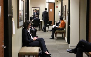 Texas MBA Students Waiting To Interview