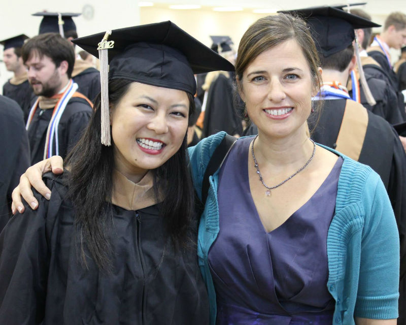 Assistant Dean Tina Mabley With Texas MBA Graduate