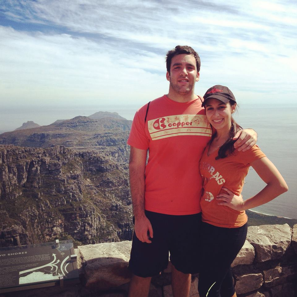 Peter, with wife Ellie, atop Table Mountain.