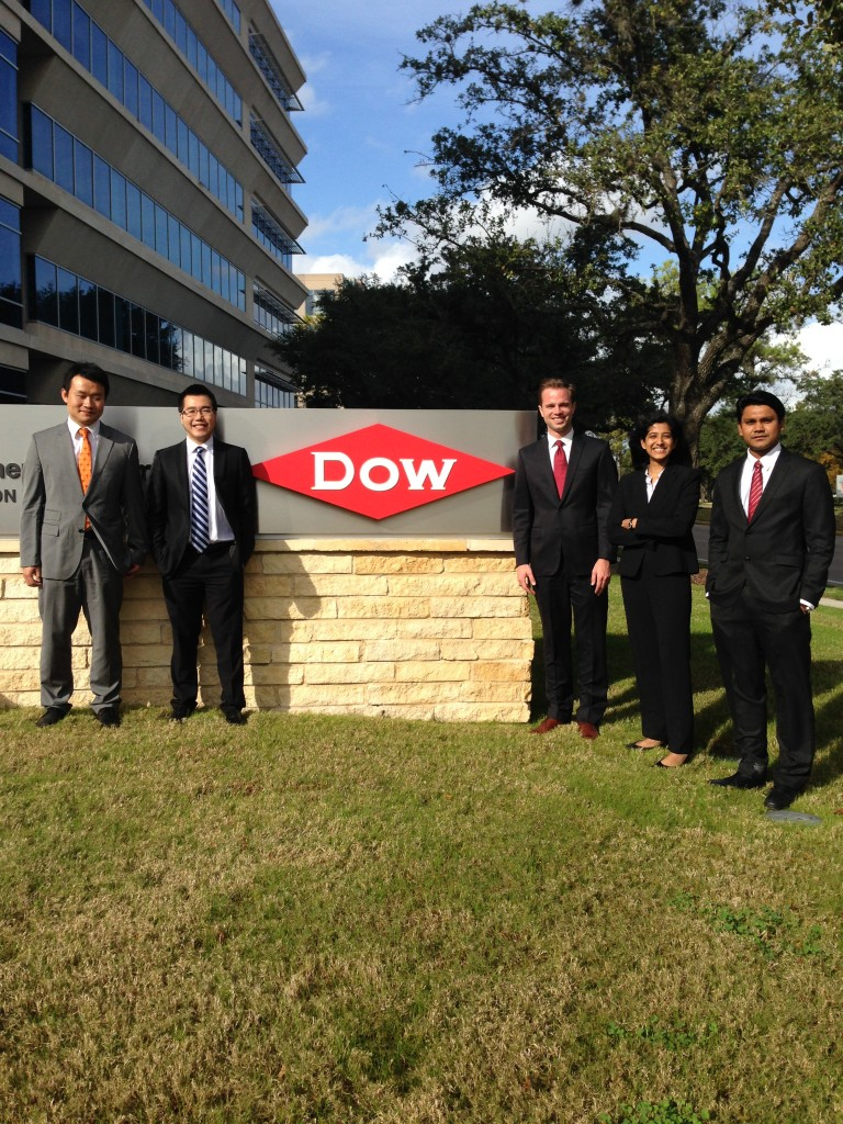 The Dow Team, MBA+ Consulting Project, Fall 2014