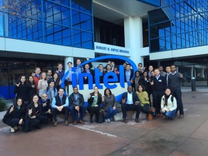Texas MBA Students at the Intel Corporate Office as part of the 2015 Bay Area Trek