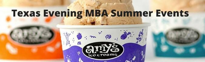 Texas Evening MBA Summer Evebnts