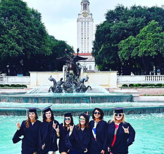 Samantha and friends at graduation