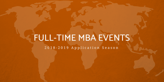 Full-Time MBA events