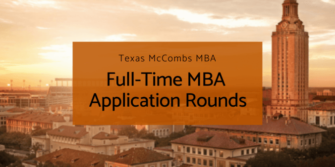 Full-Time MBA Application Rounds