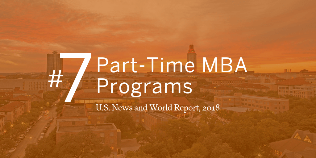 #7 Part-Time MBA programs, U.S. News and World Report