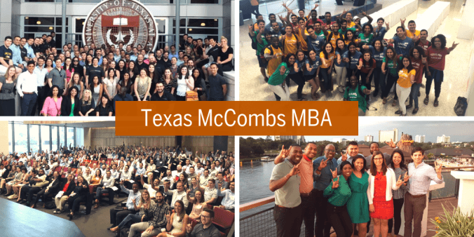 A few group photos of the Texas McCombs MBA Community