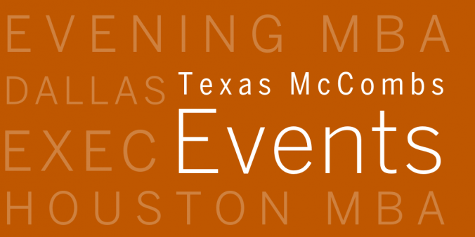 Texas McCombs Events