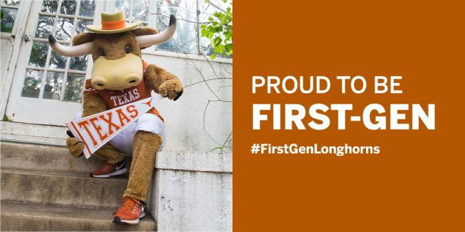 Hook 'Em celebrating first gen students