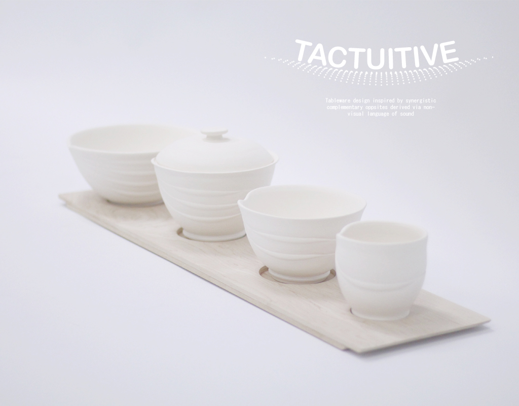 Tableware Design Inspired by Synergistic Complementary Opposites Derived via Non-Visual Language of Sound at NTU ADM Portfolio