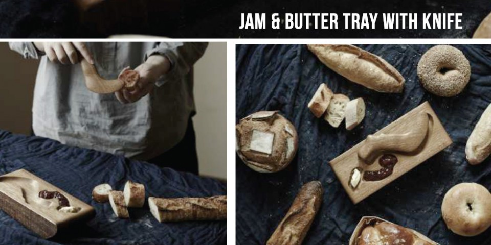 Jam & Butter Tray With Knife at NTU ADM Portfolio