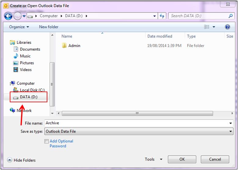 Add a new file in your drive Da