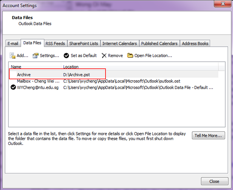 Add a new file in your drive Db