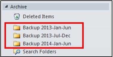 Create backup email folder