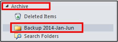 Newly created folder
