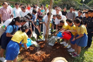 Tree-planting ceremony at CGS Carnival at NorthEast