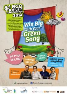 Poster for EcoMusic Challenge 2014