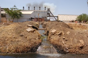 Toxic waste from factory Source: postconflict.unep.ch