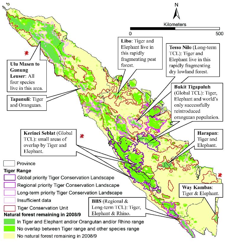 tiger habitat map