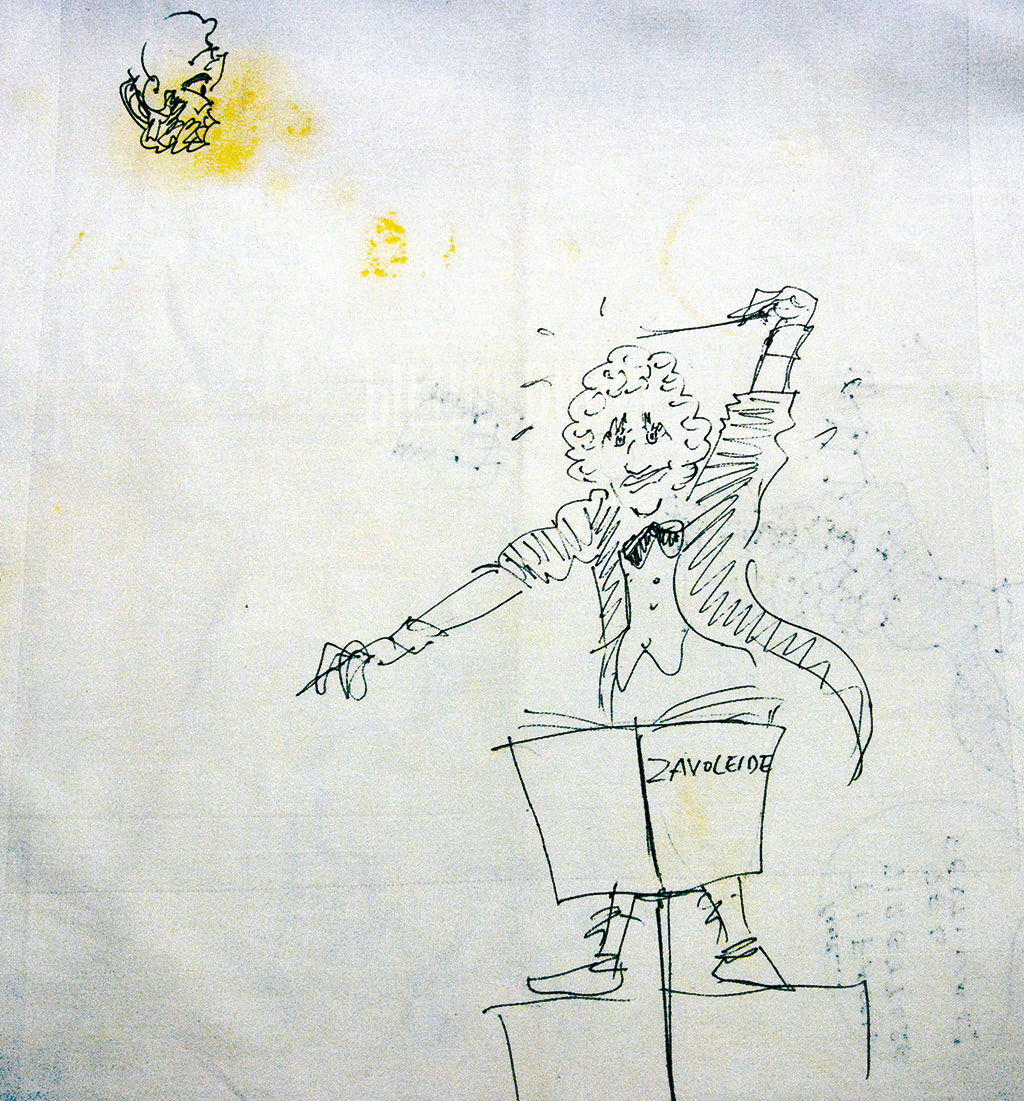 Drawings by Fellini (Date unknown)