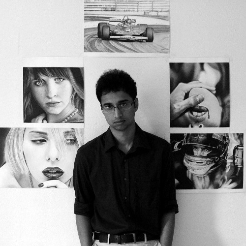 Monochrome Realism Art Exhibition : Realistic Pencil Artworks by Sachin Kamnath @ ADM Library